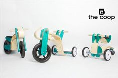the coop kids bikes wooden construction sustainable