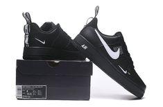 Nike Air Force 1 Low Utility Black White Men's/Women's Casual Shoes Nike Air Force Black, Nike Air Force Ones, Black Nike Shoes, Black Nikes, Jordan 3, Air Force 1, Zapatillas Nike Air Force, Black Pumps Heels, High Heels