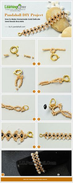 Pandahall DIY Project – How to Make Homemade Gold Delicate Seed Beads Bracelets