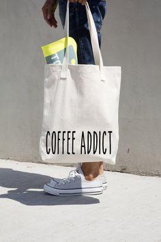 #Coffee Addict #tote bag custom #AmericanApparel by #MONOFACES, €17.00