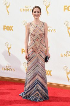 Ellie Kemper- We love these modest red carpet looks at The Emmys 2015!