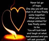Never Let Go Of Hope