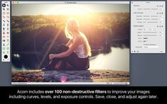 Acorn 6 Image Editor 4+ Flying Meat Inc. # Mac App Store Best of 2015 The Image Editor for Humans. Everyone needs to edit photos at some point, but not everyone has the time to learn complicated super pricey photo editing software. This is why we created Acorn. Add text and shapes to your digital pictures. Combine images together to...