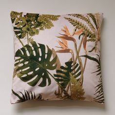 VELVET CUSHION printed with a design made by Mademoiselle Camille Available in the shop