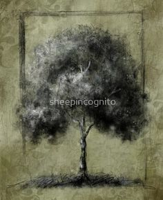 Contemporary Tree Drawing - Green Ipad Case is now here!