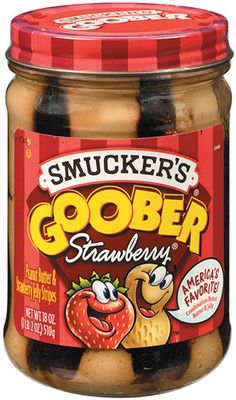 Smucker's. Goober; Strawberry PB & J Stripes is ultimate combo made with Smucker's Strawberry Jelly. Perfect for that classic peanut butter & jelly sandwich.