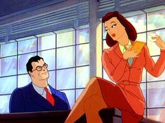 Lois Lane circa in Max Fleischer's Superman cartoon series for Paramount: Back when women in cartoons wore clothes and wore them well. Clark Superman, Superman And Lois Lane, Superman Family, Classic Comics, Classic Cartoons, Classic Films, Clark Kent Lois Lane, Max Fleischer, Animated Icons