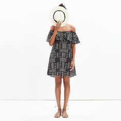 Spring Style | Off-The-Shoulder Dress Madewell Rio Cover-Up Dress
