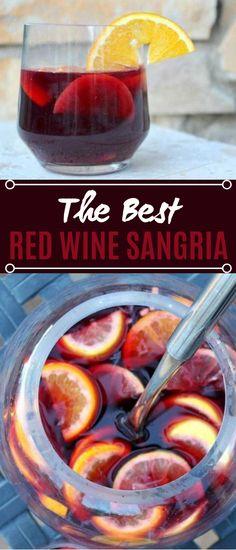 Best Red Wine Sangria #drinks #cocktails #sangria #wine #recipes