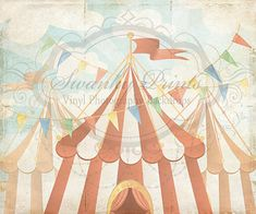 6ft x 5ft Vintage Circus  Vinyl Photography by SwankyPrints, $57.99 ~ perfect for circus party photo booth!