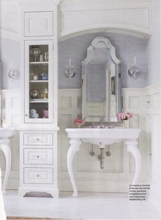 Another pic, from Dream Kitchens and Bath.  Vintage glamour....timeless elegance.  Can't wait!