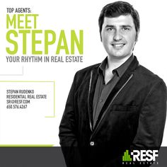 Meet Top Agent Stepan Rudenko, he is your rhythm in Real Estate! Learn more about him: resf.com/stepan-rudenko