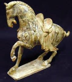 This is an artifact made from clay and terracotta in the form of a horse. Many of these artifacts were created during the Shang Dynasty; they were credited with using bronze in a lot of their artifacts.