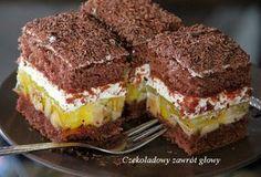 Ciasto kakaowe, banany, mascarpone, śmietana i czekolada - to główne smaki i składniki tego ciasta. Już od dłuższego czasu miałam na nie oc...