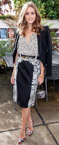 Olivia Palermo  Tibi skirt and Manolo Blahnik heels (oct 2012)