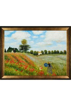 "Claude Monet Poppy Field in Argenteuil Oil on Canvas [30"" x 40""]"