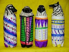 canopic jars made from soda bottles (Soda Bottle Display) Primary School Art, Middle School Art, Elementary Art, 6th Grade Social Studies, 6th Grade Art, Sixth Grade, History For Kids, Art History, Ancient Egypt Lessons