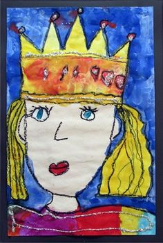 watercolor self-portrait princess