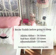 To fight #insomnia, recite Tasbih.   #AllahuAkbar #alhamduliiah #subhanAllah