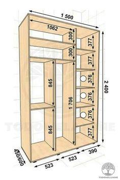 Bedroom Built In Wardrobe, Wardrobe Room, Bedroom Closet Design, Bedroom Furniture Design, Closet Renovation, Closet Remodel, Wardrobe Door Designs, Closet Designs, Wardrobe Dimensions