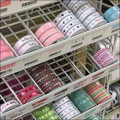 Ribbon Gravity Feed Powerwing Merchandising – Fixtures Close Up Fabric Design, Ribbon, Retail, Display, Tape, Floor Space, Treadmills, Billboard, Band