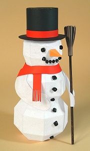 Card Craft / Card Making Templates - Frozen Fred 3D Snowman by Card Carousel