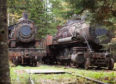 """Maine's Lost Railroad """"The railroad ran from the Eagle Lake end of the tramway thirteen miles to Umbazooksus Lake where timber could be sent down stream to the mills in central Maine."""" Northscape Photography"""