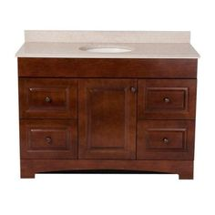 St. Paul Summit 48 in. Vanity in Auburn with Colorpoint Vanity Top in Maui-SUSD48MAP2COM-AU - The Home Depot
