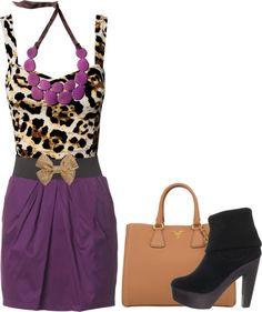 """""""Lepord"""" by dolliedoo1998 on Polyvore. Love it with the purple skirt"""