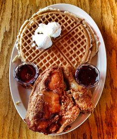 America's Best Chicken & Waffles: Roscoe's House of Chicken and Waffles, Los Angeles.   A favorite place for the TV production staff to order from when I was a Prod coordinator. And a rider request always from Snoop Dog when he was on the show.