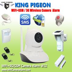 Security Alarm System   WiFi IP GSM Camera 720P For Home Burglar Alarma Camera Maison System Wireless SMS Remote Monitoring W12