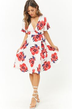 Floral High-Low Wrap Dress | Forever 21