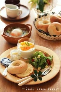 GM♡ Healthy Cooking, Cooking Recipes, Healthy Recipes, Bistro Food, Good Food, Yummy Food, Breakfast Menu, Delicious Breakfast Recipes, Cafe Food