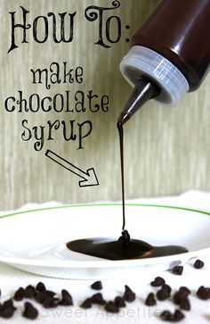 Awesome! Easy homemade chocolate syrup...so much better than the store bought stuff (with all the preservatives-highfructosecornsyrup-how-is-that-good-for-you crazy ingredients!) #homemadechocolatesyrup