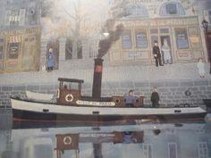 """Michel Delacroix Print """"Shops along the Seine"""" (detail)"""