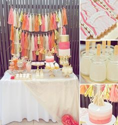 Orange Pink & Gold 1st birthday party via Kara's Party Ideas karaspartyideas.com #orange #pink #gold #1st #birthday #party