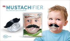 turn your boy into a man instantly... mustache + pacifier = mustachifier