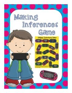 Making Inferences Printable Game: DS Game Controller Theme...the boys will L-O-V-E playing this!