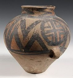 Chinese Neolithic Majiayao Painted Pottery Jar