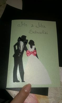 Wedding card Wedding Cards, Polaroid Film, Artist, Handmade, Hand Made, Artists, Craft