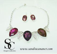 Juegos de Joyería y Bisutería Fina Sandra Canan Costa Rica necklace swarovski crystal