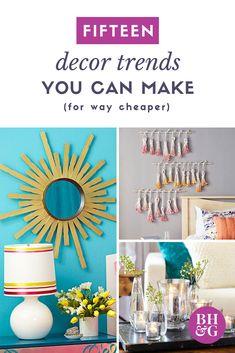 Decor Trends You Can Make For Way Cheaper. Dollar Store HacksCopycatDiy ...
