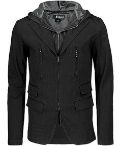 I want a hot hubby to put this on!  --Kaun Hooded Blazer--