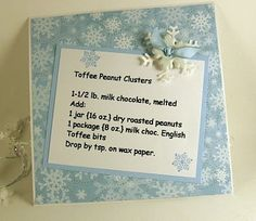 Toffee Peanut Clusters recipe card