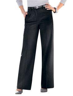 Pantalon bas larges, vous mesurez - d'1,60m GRIS+NOIR