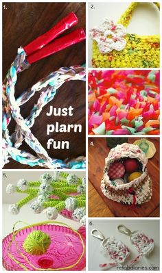 Plarn project roundup #plarn #upcycle #plasticbags