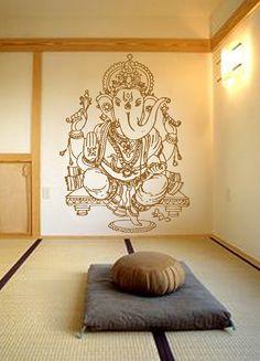 Kik483 Wall Decal Sticker Room Decor Art Mural Indian God Ganesha Hinduism Welfare Bedroom Living