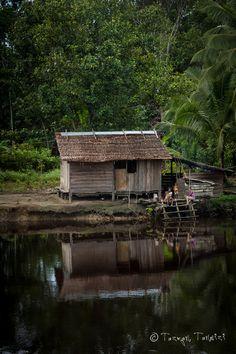 Papua Village river home, Indonesia