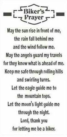 Biker's Prayer