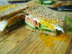 Smoked Salmon and Avocado Breakfast Sandwich Recipe on Yummly. @yummly #recipe